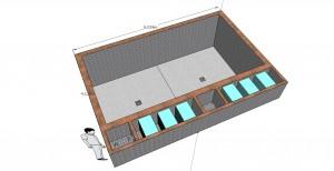 Схема установки фильтрации пруда